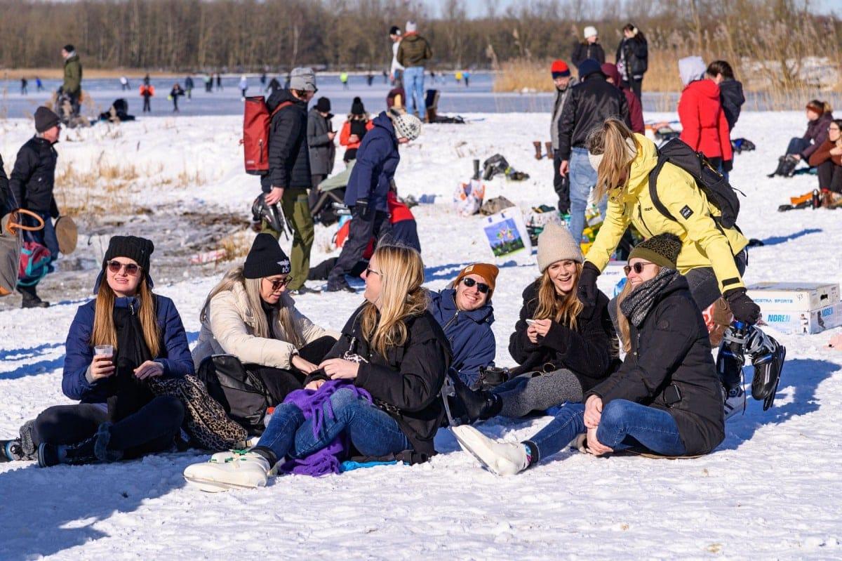 groepsportret sneeuw