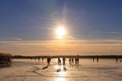 schaatsen zonsondergang
