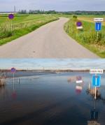 voor en na hoogwater