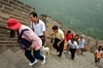 steile klim van de chineese muur