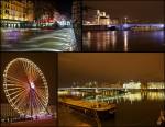Lyon en de seine nacht