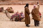 camel guides at the entrance treasury