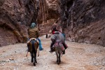 the-siq with 2 mule riders