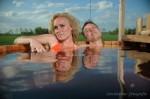 hot tub met echtpaar