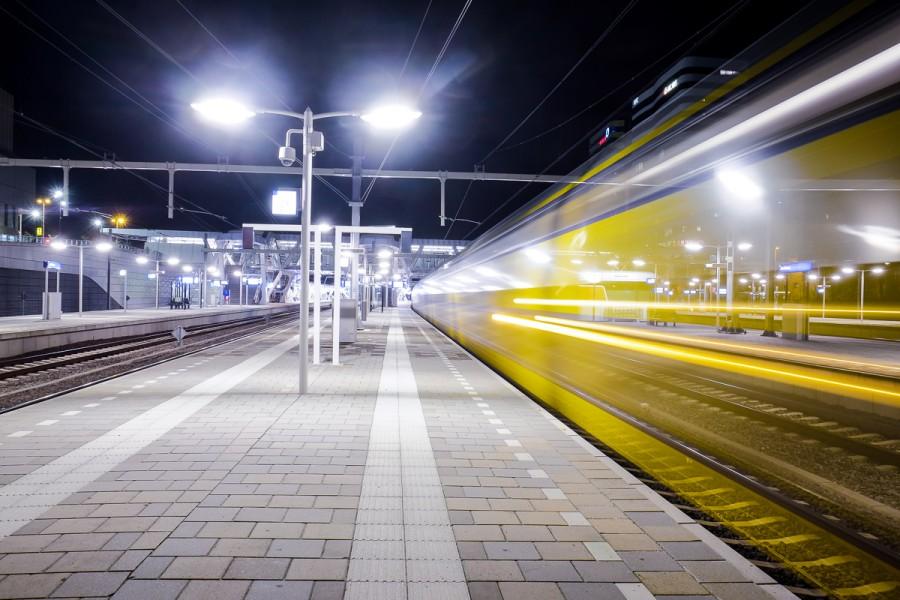 NS trein lange sluiterijden