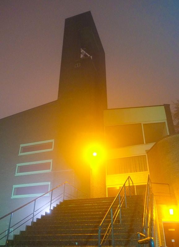Bethlehemkerk in de mist